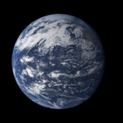 The Star Nearest Earth: Earth from above Pacific Ocean